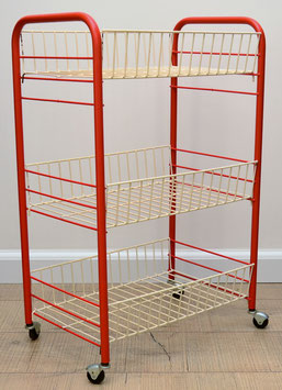 Vintage trolly rood/wit