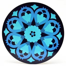 Onderzetter Mandala aqua/blauw #2