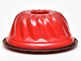 Brocante rode tulband compleet met onderbord