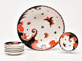 Petit-fours set decor Faust van Societe Ceramique