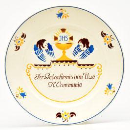 Bord 'Ter Gedachtenis aan Uwe H. Communie' van Societe Ceramique