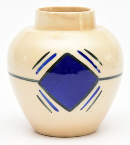 Gemberpot met blauw vierkant