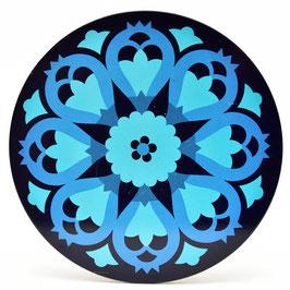 Onderzetter Mandala aqua/blauw #3
