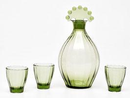 Karaf met 3 glaasjes Neerlandia van Copier Leerdam