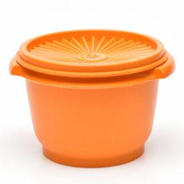 Tupperware voorraaddoos oranje met sterdeksel