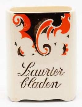 Kruidenpotje 'Laurierbladen' decor Faust van Societe Ceramique