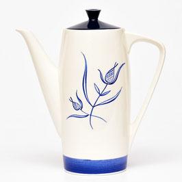 Koffiepot model Aida met blauw/wit bloemdecor