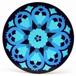 Onderzetter Mandala aqua/blauw #1