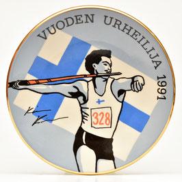 Wandbord Vuoden Urheilija 1991 - Kermansavi Finland
