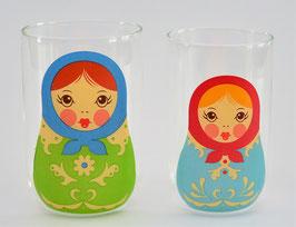 2 Matroesjka glazen