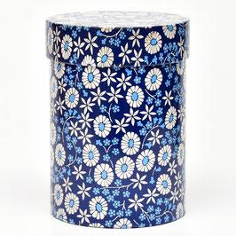 Blik blauw/wit met bloemen van IRA Denmark #2