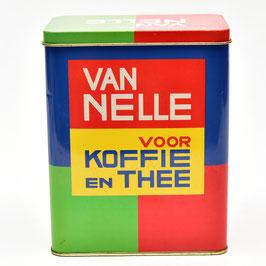 Blik Van Nelle voor Koffie en Thee - rood/groen/blauw/geel