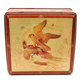 Blik met fazant en roofvogel van Van Melle (Anvers)