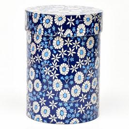 Blik blauw/wit met bloemen van IRA Denmark #1