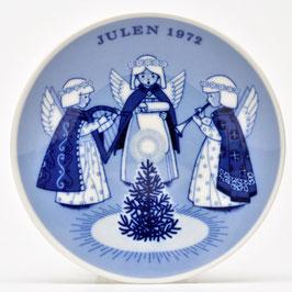 Wandbordje 'Julen 1972' van Porsgrunds Porselaensfabrik Norway