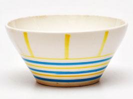 Schaaltje met blauwe en gele strepen van Societe Ceramique