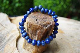 Bracelet Lapis-Lazuli roulée 10mm