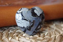 Coeur Jaspe Brechia noir T2