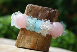 Bracelet Quartz rose / Cristal de roche