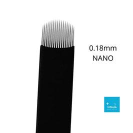 NAVAJA MICROBLADING 0.18mm NANO CURVA LENGUA DE GATO