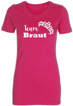 Team Braut T-Shirt pink