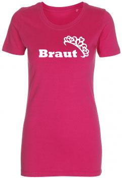 Braut Krone T-Shirt pink