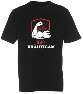 Team Bräutigam T-Shirt schwarz