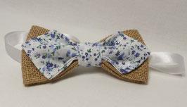 """Collection Tissu  """"Fleuri"""" Tons Bleus"""