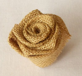 Fleurs en Toile de Jute ou Tissu (Lot de 15 Fleurs)