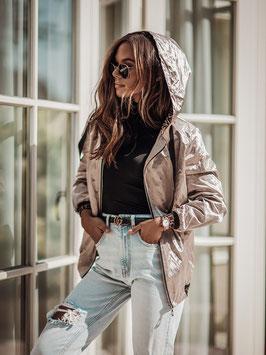 Goldene Jacke mit  Kapuze