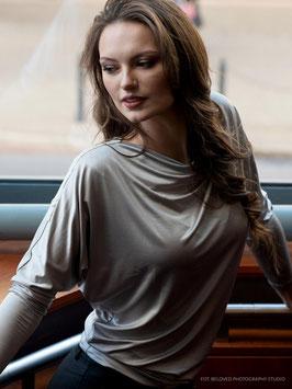 Bluse mit metalischen Silberglanz