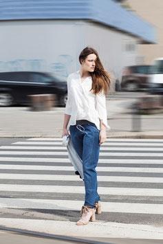 Feminin mit plissee - Ranga Bluse