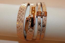 Wickelarmband Leder Goldeneschlange