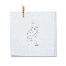 Klappkarte *Illustration Mom & Baby*