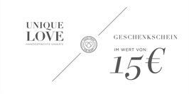 GUTSCHEIN / 15 EURO