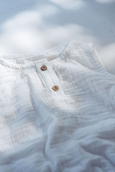 Musselin-Overall / Soft white