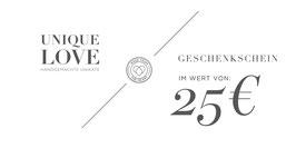 GUTSCHEIN / 25 EURO