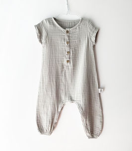 Musselin-Overall / Soft gray