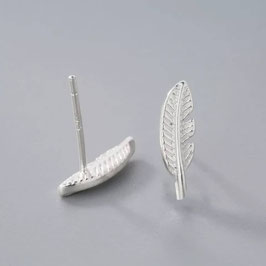 "Ohrstecker ""Feather"", 925 Silber"