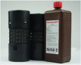 2 microzuilen/gaaskokers met 1/2 liter Tupoleum®