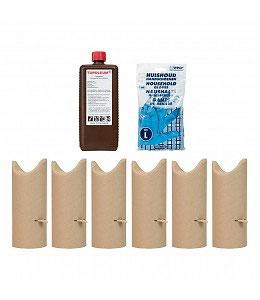 Kartonnen kokers rond 9 cm met 1 liter Tupoleum®