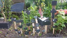 verschiedene Gartenspieße/Blumenspieße