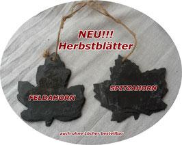 Herbstblätter mit Naturband, auch ohne Löcher und Band erhältlich