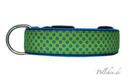 Pöllchen Komforthalsband Punkte Grün Blau