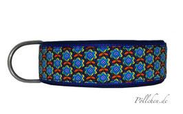 Pöllchen Komforthalsband Blümchen Blau