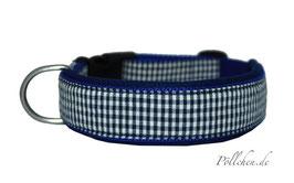Pöllchen Komforthalsband Vichy Blau