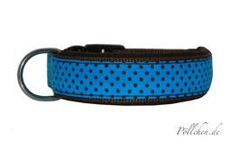 Pöllchen Komforthalsband Punkte Blau Braun
