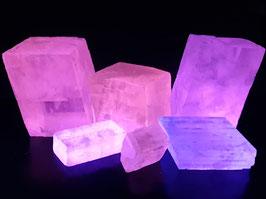 Dubbelspaat Calciet (Calcite) uit Mexico * LW +++, MW++, SW+++