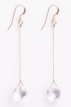 "WANDERLUSTLIFE - OHRRING ""RIO DROP - CLEAR QUARTZ"""