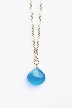 "WANDERLUSTLIFE - HALSKETTE ""LONG LINES COLLECTION - BLUE CHALCEDONY"""